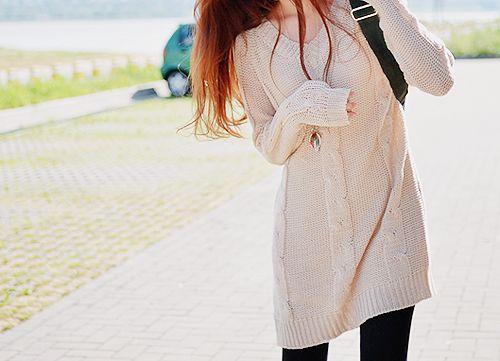i love long sweaters <3 #kfashion: