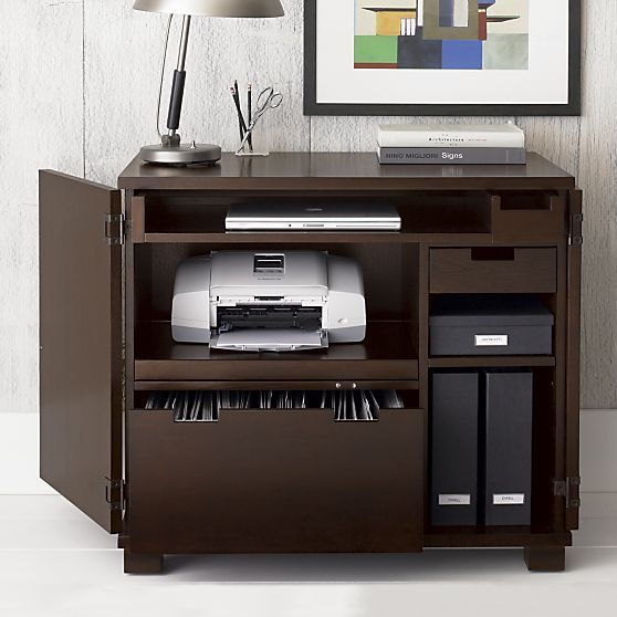 Incognito Mocha Compact Office Crate And Barrel