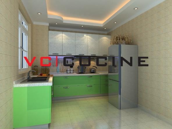 Modern style UV painting modular kitchen cabinet