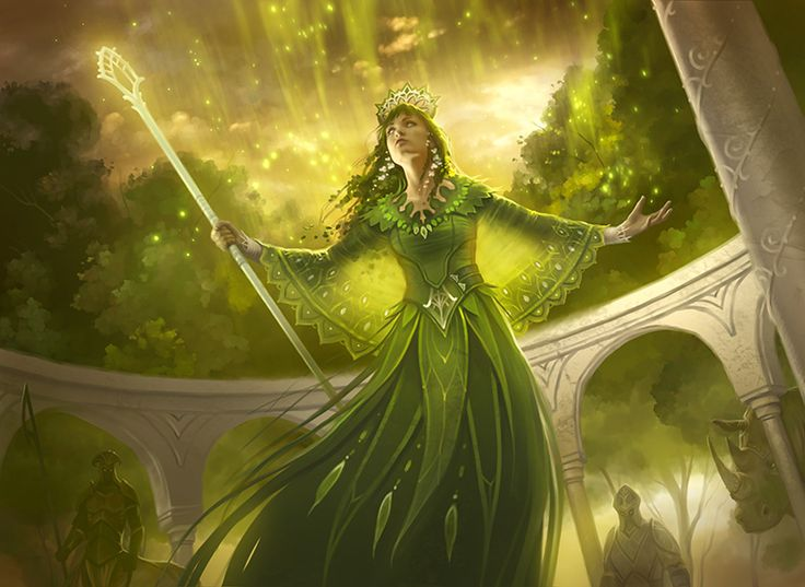 Sigdelva was never a deity attracted to orders and followings. Even so, she knew that at least some tether to humanity would be useful. So she decided to allow one High Priest/Priestess. This individual would have full access to the goddess's power, and it would be their sacred duty to protect all the wild places of Shalara. Her last High Priestess was an elf named Ellyar. But Aithar didn't want even one elf to belong to her. Ellyar was driven mad and destroyed, torn between the two deities.