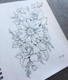 1 flower each, for me mom and granny #FlowerTattooDesigns