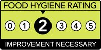 The Railway, froghall Food hygiene rating is '2': Improvement necessary