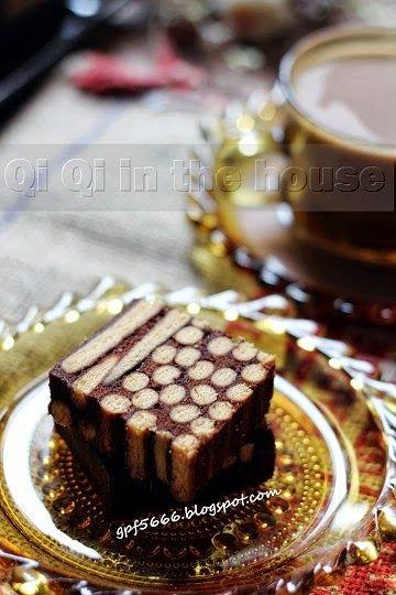 Qi Qi in the house: Pearl Chocolate Layered Cake (Kek Kukus Coklat Polkadot) - Polkadot Chocolate Cake