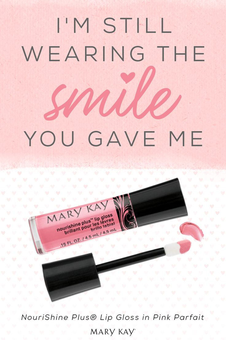 And my smile looks extra sweet with the brilliant shine of NouriShine Plus® Lip Gloss! | Mary Kay
