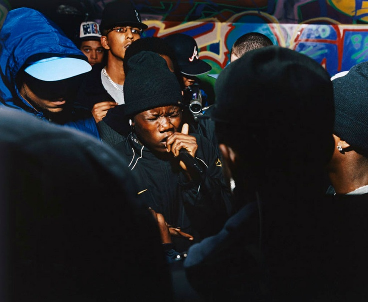 A photo from Ewen Spencer´s Open Mic series that covers the UK grime scene.