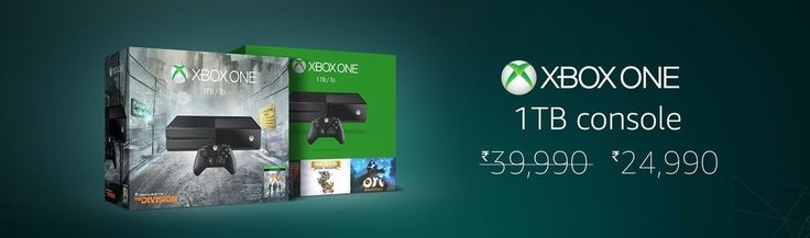 OFFER on Xbox One 1TB Console bundles on Amazon India. Current lowest prices online : Rs 24,990 @ Amazon.in.