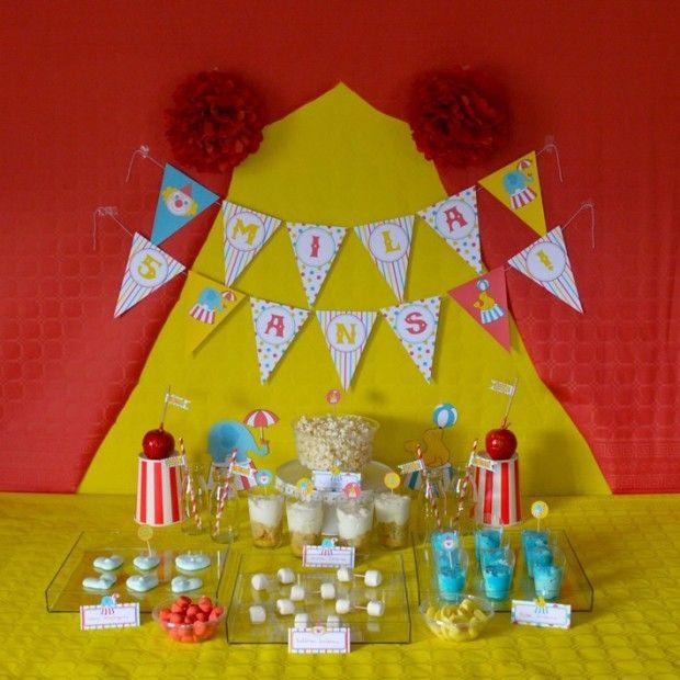 Choisissez le kit Cirque proposé par Petits Trognons pour organiser à votre enfant, un anniversaire coloré et festif au milieu des clowns et des animaux.