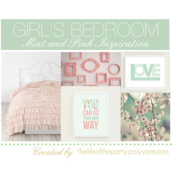 """""""Girl's Bedroom Pink and Mint"""" by thelifeoftheparty on Polyvore    Absolutely…"""