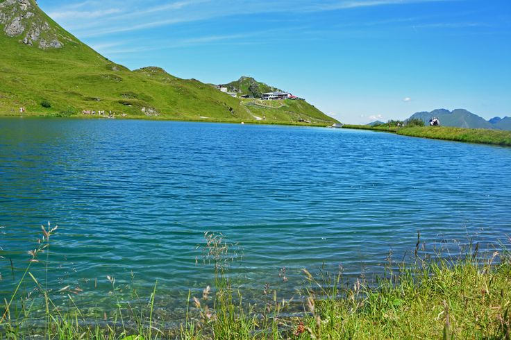 Lake in Alpes, above Bad Gastein. Author-Tereza Večerková