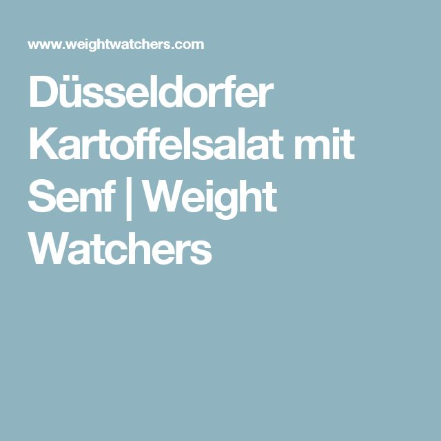 Düsseldorfer Kartoffelsalat mit Senf | Weight Watchers