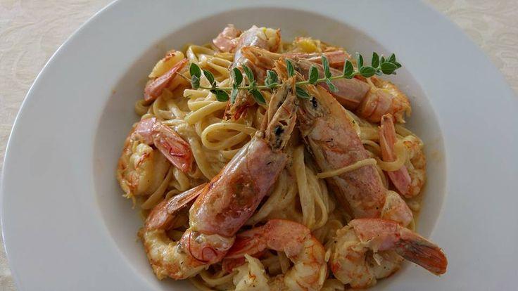 Prawns Spaghetti Mnistires Restaurant, Odyssey hotel