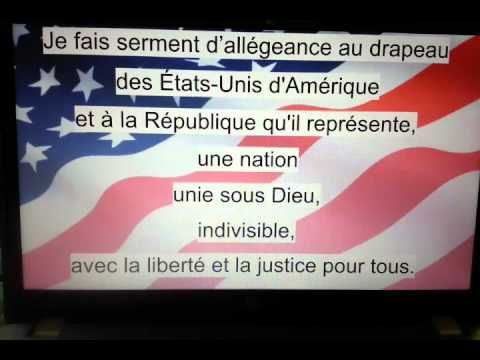 Le Serment d'Allégeance (Pledge of Allegiance translated in French)- nor...