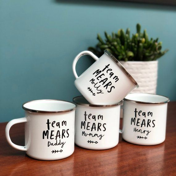 Personalised Enamel Mug Cup Drink Tea Coffee Add your name Free!