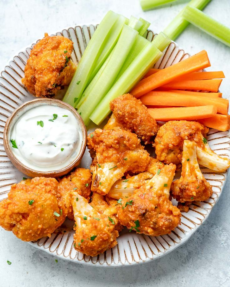 Air Fryer Buffalo Cauliflower 'Wings' Recipe in 2020