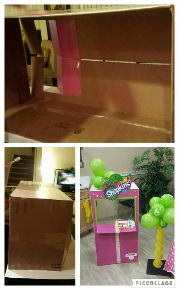 DIY Cardboard  Shopkins Store Photo booth  By: Retazos Paper Creations  http://retazospc.wix.com/paper creations