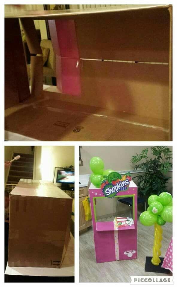 DIY Cardboard  Shopkins Store Photo booth  By: Retazos Paper Creations  http://retazospc.wix.com/paper creations