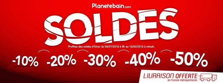 Soldes d'hiver 2016 !! http://www.planetebain.com/promotions