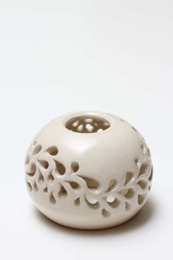 Handmade Tea Light Lantern with intracte cut outs by RocksPottery, $94.00