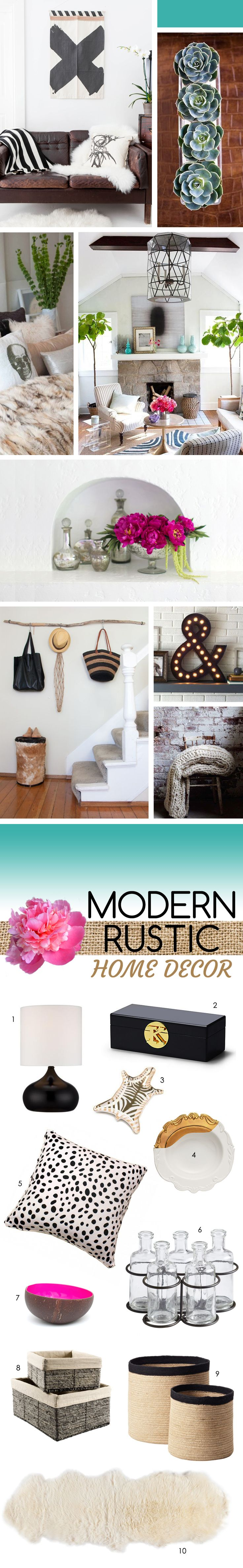 Modern Rustic Home Decor // Inspiration + Shopping
