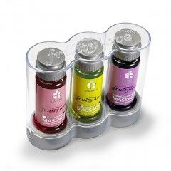 Owocowy olejek do masażu - Swede Fruity Love Massage Gift Package 1 Zestaw Truskawka Melon Malina