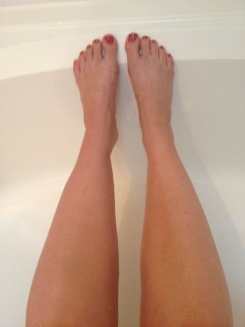 #pintester one tan leg