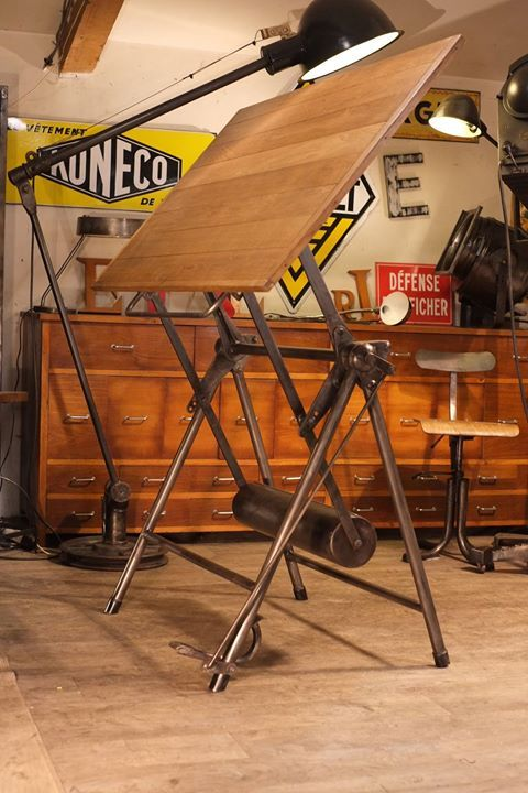 150 best images about vintage drafting tables on pinterest antiques easels and industrial. Black Bedroom Furniture Sets. Home Design Ideas