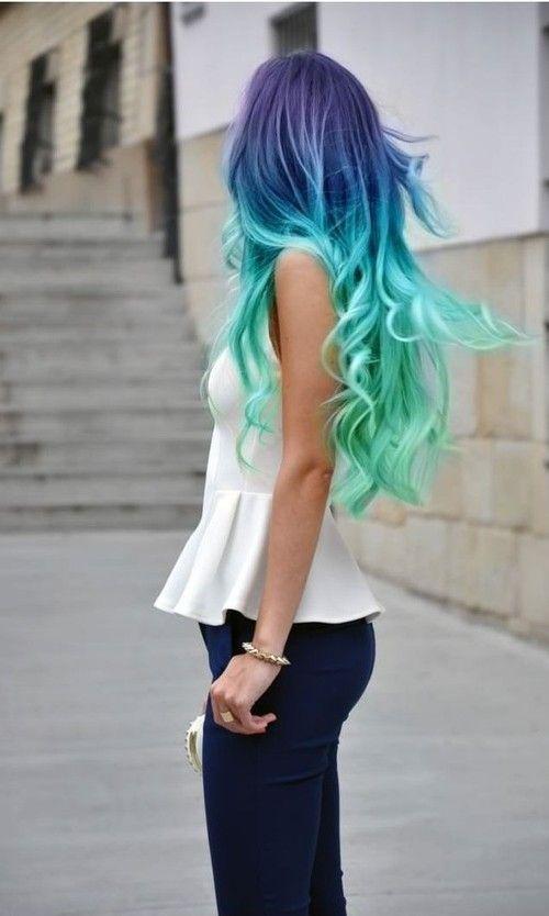Mermaid Hairstyles 01 Mermaid Hair Ombre