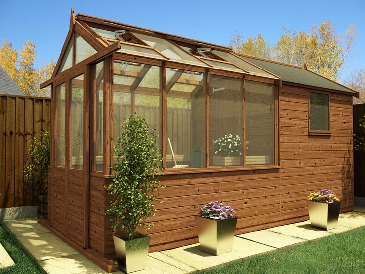 Greenhouse Shed Combo Garden Pinterest