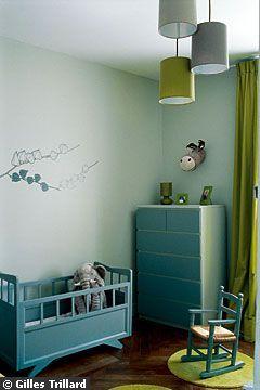 Du bleu vert zen pour bébé