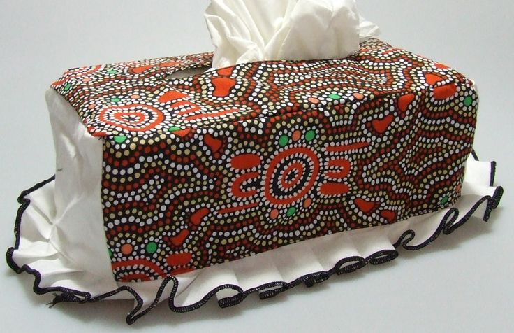 Tissue Box Cover Design:  Bush Orange Artist:  Paula Nelson Country:  The Barkly Region NT Code:  HOME-TBC-BO Price:  $18.00