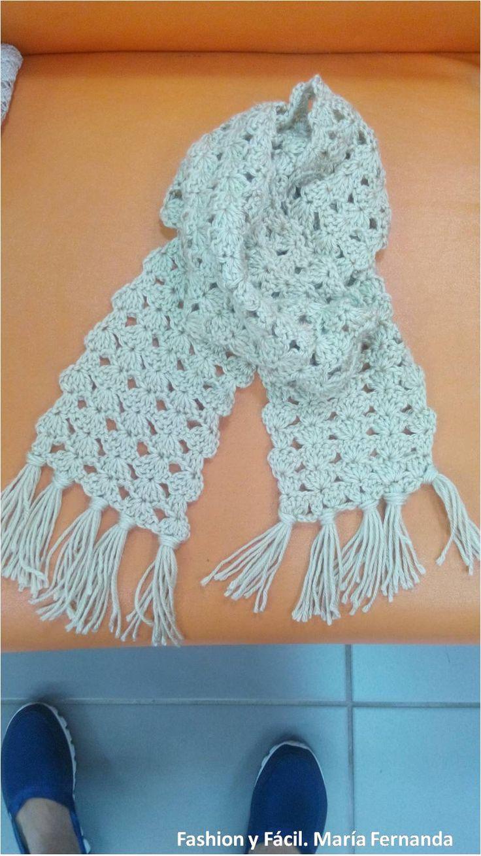 Excelente Los Patrones De La Bufanda De Crochet Libre Easy Fotos ...
