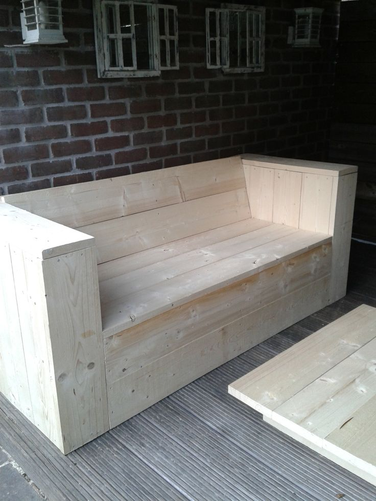 bank van nieuw steigerhout