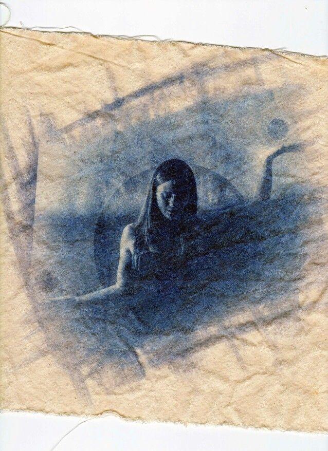 Nt  #carlotarsiaphotography Cyanotype on cloth