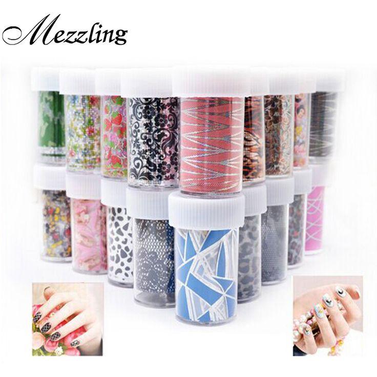 12 stks Nail Transfer Folie Sticker Papier Mix Creatieve Ontwerpen Nail Art Decals Decoratie DIY Schoonheid Manicure Gereedschap