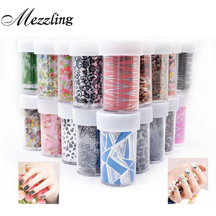 12pcs Nail Transfer Foil Sticker Paper Mix Creative Designs Nail Art Decals Decoration DIY Beauty Manicure Tools