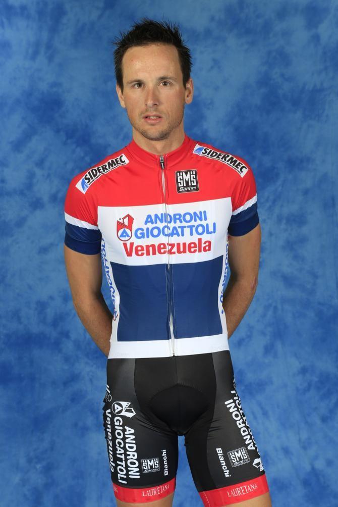 Johnny Hoogerland in his new Androni Giocattoli - Venezuela kit