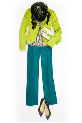"""Lime and turquoise!  Loving the colours!  This goes in my """"copy this look ASAP"""" file for sure!"""