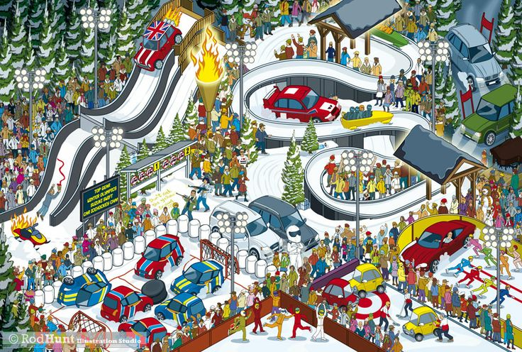 This is how Top Gear would do the Winter Olympics! From my bookTop Gear Where's Stig? The World Tour  ---- © Rod Hunt 2014 http://www.rodhunt.com
