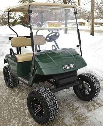 Used 2015 Gsi Ez Go Lifted Golf Cart - Grasshopper Edition With Custo ATVs For Sale in Illinois.