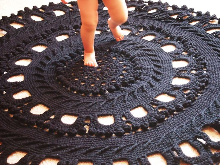 """62"""" Wool Crochet Large Rug, Rug Round Crochet, Made To Order by ManCrochets on Etsy https://www.etsy.com/listing/153514136/62-wool-crochet-large-rug-rug-round"""