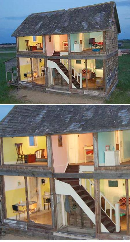 real life doll house! installation by heather benning