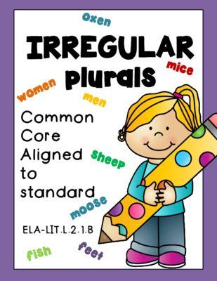 Irregular Plural Nouns from RockPaperScissors on TeachersNotebook.com (12 pages)