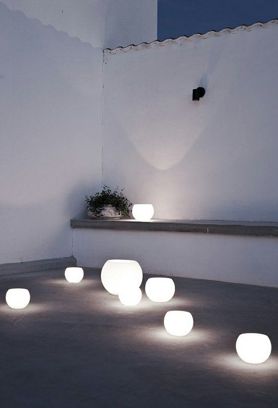 glowing globe lights
