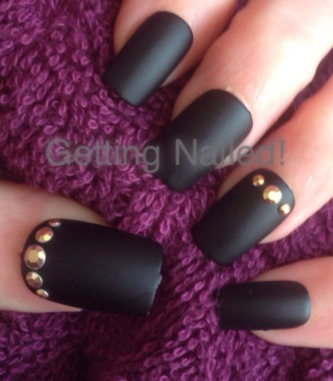 Unique Black And Gold Press On Nails Photo - Nail Art Ideas ...