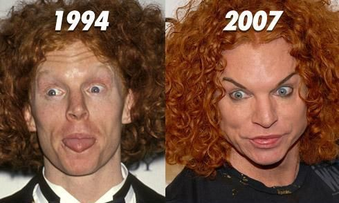 Carrot Top....creepy before his creepy new look....