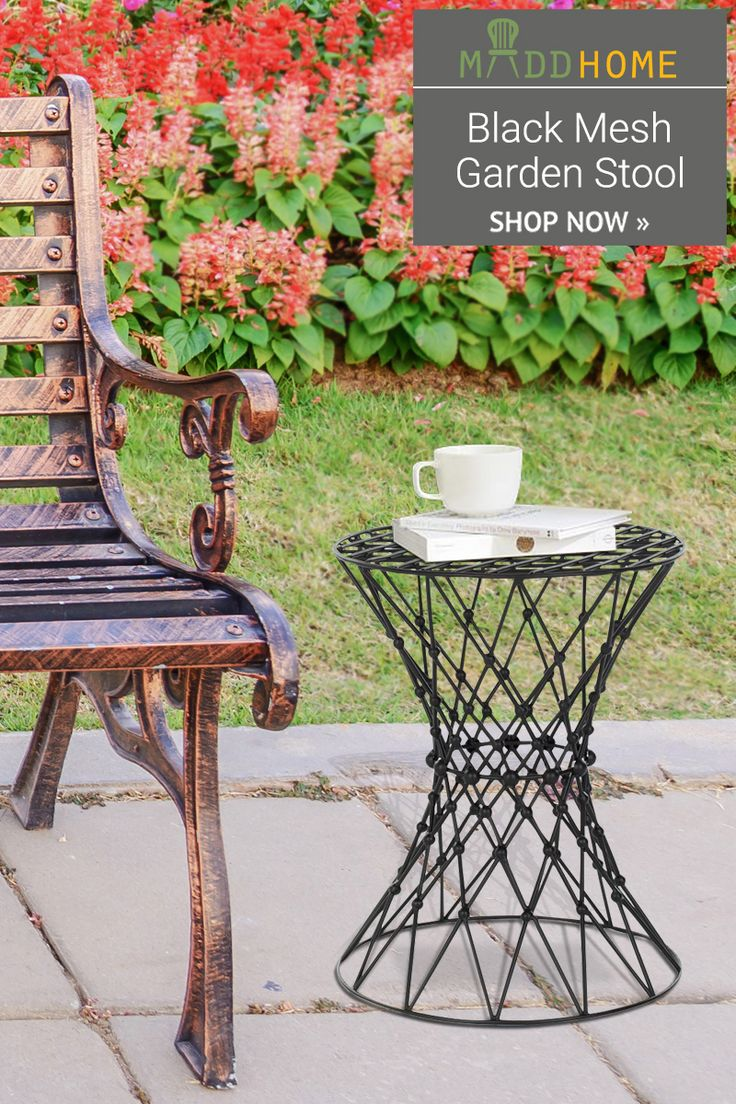 Black Mesh Garden Stool now at just Rs. 4,199 only.
