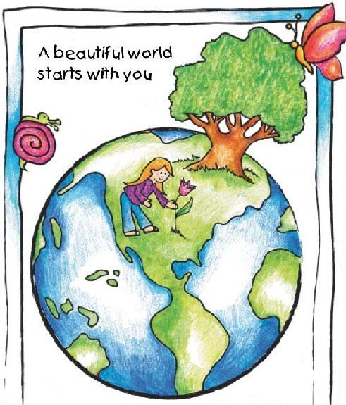 A beautiful world starts with you... do your part, no matter if it is recycling a water bottle or turning off lights when you get out of a room... every one of us and every little action counts!