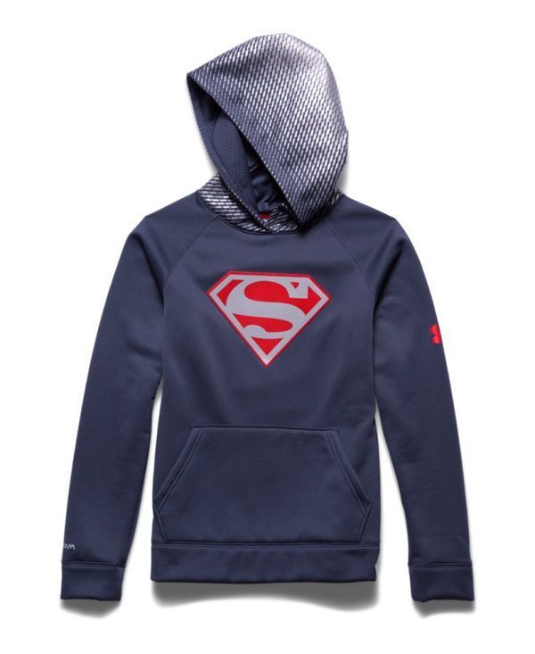 Superman Under Armour Hoodie - Reflective Logo