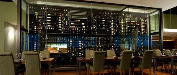 steel and glass wine cellar - Google Search