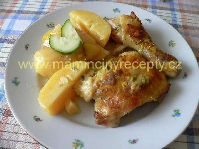 23 kuře s nivou a česnekem